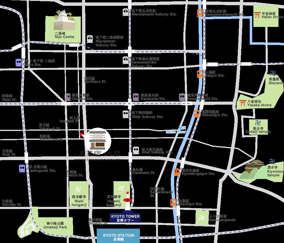 Kyohanayado Hontei Rental Kyoto Townhouse Lodging on nagano station map, jiyugaoka station map, shinjuku station map, kamakura station map, tachikawa station map, japan map, kanazawa station map, uji station map, matsumoto station map, niigata station map, takasaki station map, fujisawa station map, kawaguchiko station map, shizuoka station map, city bus line map, kobe map, tofukuji station map, amagasaki station map, hakodate station map,