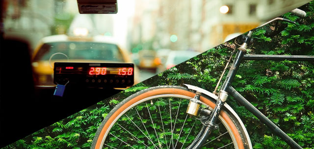 Rental bicycles & taxis